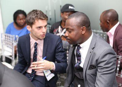 Paul Vernus of French Embassy with Dr. Eric Iyayi in Abuja Summit